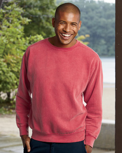 custom embroidered 1566 Comfort Colors Garment-Dyed Fleece Crew