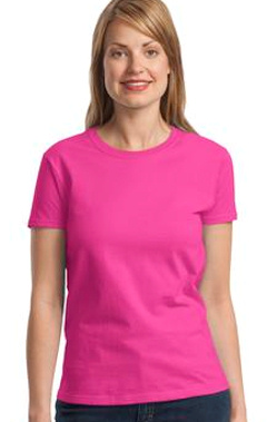 Custom embroidered Gildan - Ladies Ultra Cotton T 100% Cotton T-Shirt. 2000L.