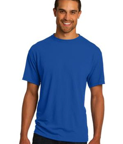 Custom embroidered JERZEES ® Sport 100% Polyester T-Shirt. 21M 5.3-ounce, 100% polyester preshrunk jersey