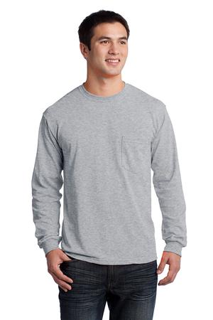 Custom embroidered Gildan ® - Ultra Cotton ® 100% Cotton Long Sleeve T-Shirt with Pocket. 2410