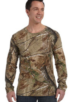 Custom embroidered 3981 Code V Officially Licensed REALTREE® Camouflage Long-Sleeve T-Shirt,