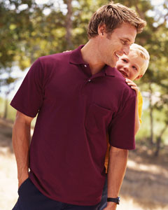 Jerzees 436MP sport shirt with pocket, spotshield. Customize with your logo left chest!