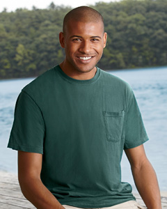Custom embroidered 6030CC Comfort Colors 6.1 oz. Garment-Dyed Pocket T-Shirt .