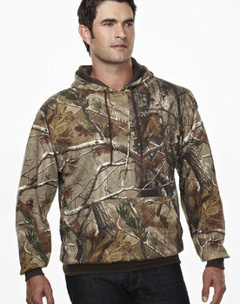 Custom embroidered 689C, Perspective Camo Hooded Sweatshirt, 9.8 oz.