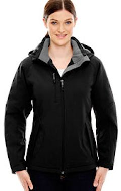 custom embroidery 78080 Ash City - North End Ladies' Glacier Insulated Three-Layer Fleece Bonded Soft Shell Jacket with Detachable Hood