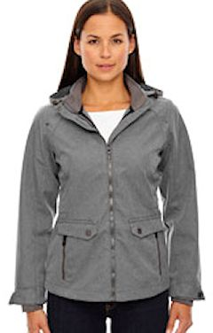 custom embroidered 78672 Ash City - North End Sport Blue Ladies' Uptown Three-Layer Light Bonded City Textured Soft Shell Jacket