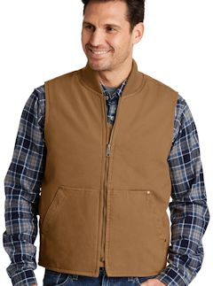 Custom embroidered CornerStone ® Washed Duck Cloth Vest. CSV40