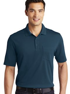 Custom embroidered Port Authority ® Dry Zone ® UV Micro-Mesh Pocket Polo. K110P