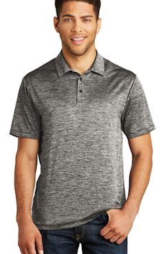 Custom embroidered Sport-Tek ® PosiCharge ® Electric Heather Polo. ST590