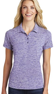 Custom embroidered Sport-Tek ® Ladies PosiCharge ® Electric Heather Polo. LST590