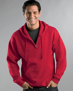 custom embroidered 994MR Jerzees 8 oz. NuBlend® 50/50 Fleece Quarter-Zip Pullover Hood