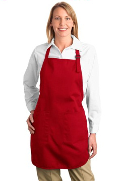 Port Authority® - Full Length Apron with Pockets. A500, embroidered with your logo!