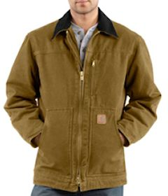 C61- Carhartt Coat Sandstone Ridge Coat - Sherpa Lined  embroidered