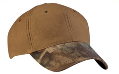 Port Authority® - Pro Camouflage Series Cotton Waxed Cap with Camouflage Brim. C877. embroidered with your logo.
