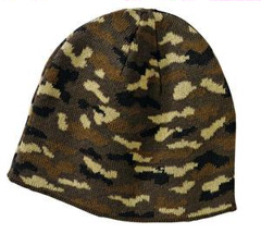 Custom embroidered Port & Company � - Camo Beanie Cap. CP91C