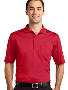 Custom embroidered CornerStone ® - Select Snag-Proof with Pocket Polo. CS412P