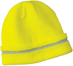 embroidered Safety Beanie with Reflective Stripe. CS800.