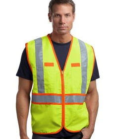 Custom Embroidered CornerStone ® - ANSI 107 Class 2 Dual-Color Safety Vest. CSV407