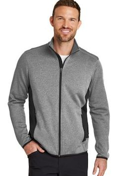 Custom embroidered Eddie Bauer ® Full-Zip Heather Stretch Fleece Jacket. EB238