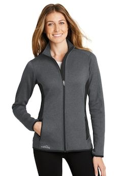 Custom embroidered Eddie Bauer ® Full-Zip Heather Stretch Fleece Jacket. EB239