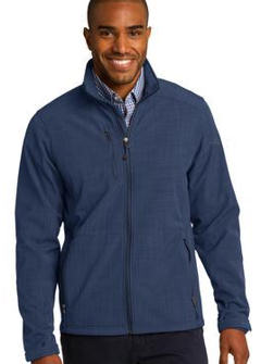 custom embroidered Eddie Bauer ® Shaded Crosshatch Soft Shell Jacket. EB532