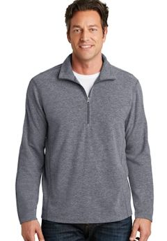 Port Authority ® Heather Microfleece 1/2-Zip Pullover. F234
