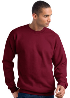 Hanes Ultimate Cotton - Crewneck Sweatshirt. F260 embroidered with your logo.