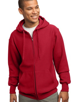 custom embroidered Sport-Tek® - Super Heavyweight Pullover Full Zip Hooded Sweatshirt. F282