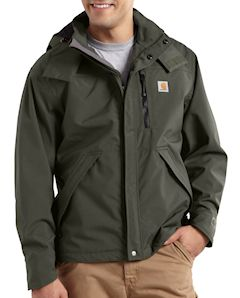 J162 Carhartt Waterproof Breathable Jacket , embroidered with logo.