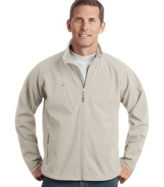 embroidered Port Authority® - Textured Soft Shell Jacket. J705.