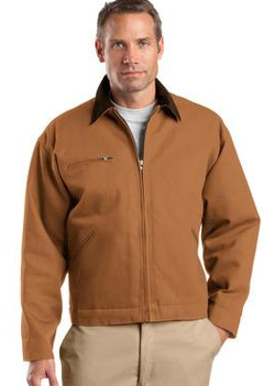 Custom embroidered CornerStone ® - Duck Cloth Work Jacket. J763