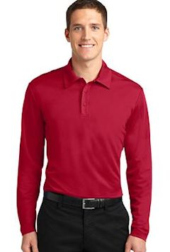 Embroidered moisture wicking shirts performance golf polo for Moisture wicking golf shirts