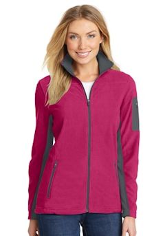 embroidered Port Authority® Ladies Summit Fleece Full-Zip Jacket. L233