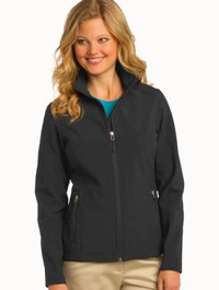 custom embroidered L317 soft shell jacket ladies
