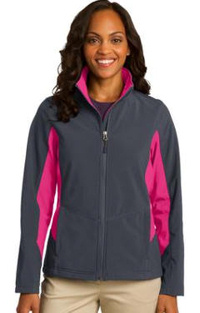 Custom Embroidered Port Authority ® Core Colorblock Soft Shell Jacket. L318 ladies