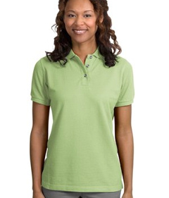 Port Authority® - Pique Knit Polo Golf Sport Shirt. L420, embroidered