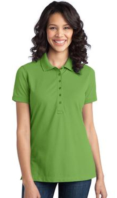 Custom embroidered Port Authority ® - Ladies Stretch Pique Polo. L555