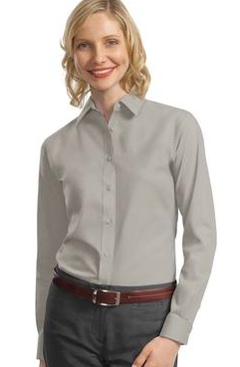 Custom Embroidered Port Authority ® - Ladies Long Sleeve Value Poplin Shirt. L632