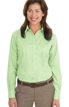 Port Authority ® - Long Sleeve Non-Iron Twill Shirt. L638 embroidered with your logo!
