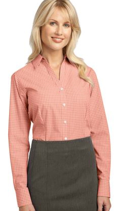 Custom embroidered Port Authority ® - Ladies Plaid Pattern Easy Care Shirt. L639