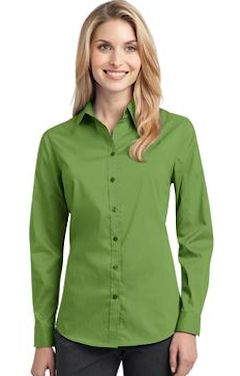 Custom embroidered Port Authority ® Ladies Stretch Poplin Shirt. L646