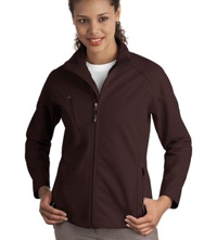embroidered ladies Port Authority® - Textured Soft Shell Jacket. L705.