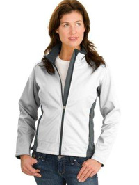 Custom embroidered Port Authority ® - Two-Tone Soft Shell Jacket. L794 Ladies