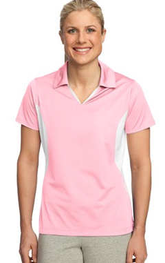 Custom Embroidered Sport-Tek ® - Ladies Side Blocked Micropique Sport-Wick ® Polo. LST655.