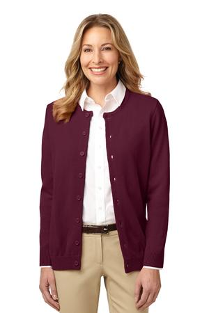 Port Authority ® Value V-Neck Cardigan with Pockets. LSW302