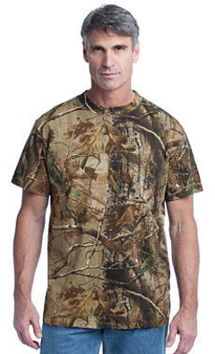 Custom embroidered Russell Outdoors T - Realtree Explorer 100% Cotton T-Shirt. NP0021R