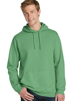 Custom Embroidered Port & Company ® Essential Pigment-Dyed Pullover Hooded Sweatshirt. PC098H