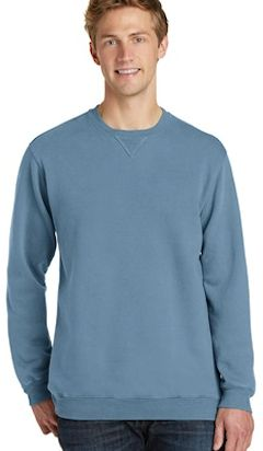 custom embroidered Port & Company ® Essential Pigment-Dyed Crewneck Sweatshirt. PC098