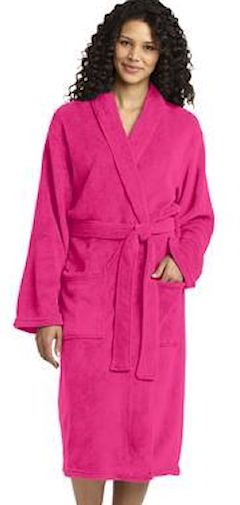 Custom embroidered Port Authority ® Plush Microfleece Shawl Collar Robe. R102