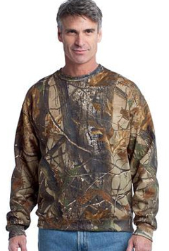 Custom embroidered Russell Outdoors T Realtree Crewneck Sweatshirt. S188R.